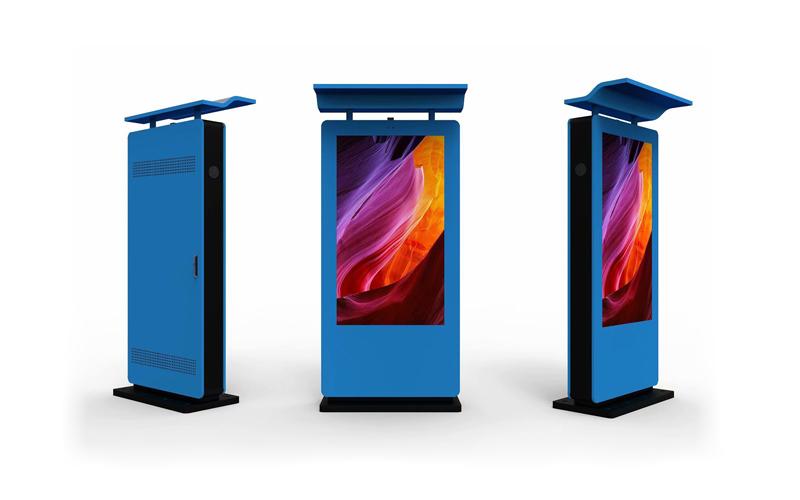 outdoor digital advertising kiosk