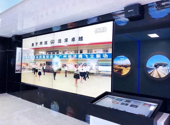 lcd video wall with digital signage