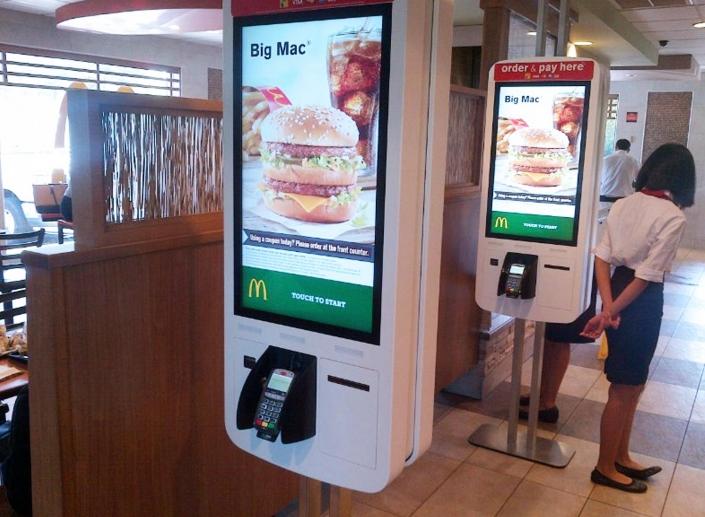 restaurant ordering kiosk