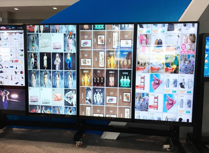 shopping mall advertising touch screen kiosk