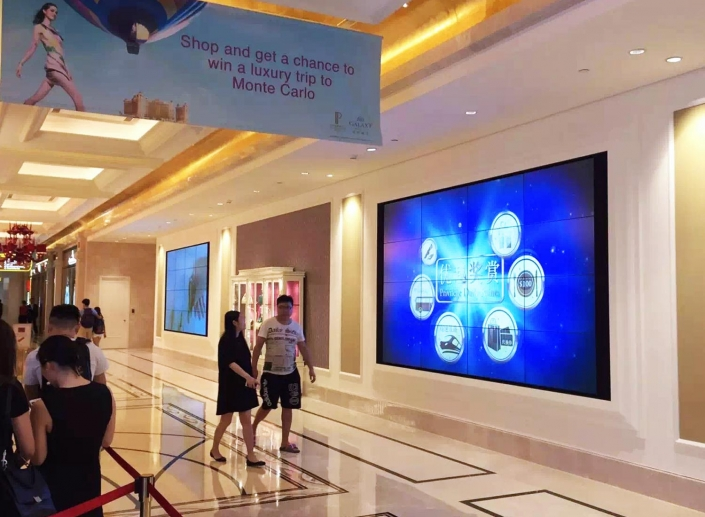video wall for shopping mall