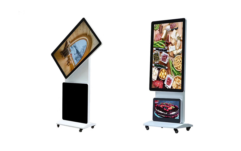 rotatable advertising stand