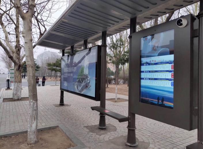 advertising bus stop
