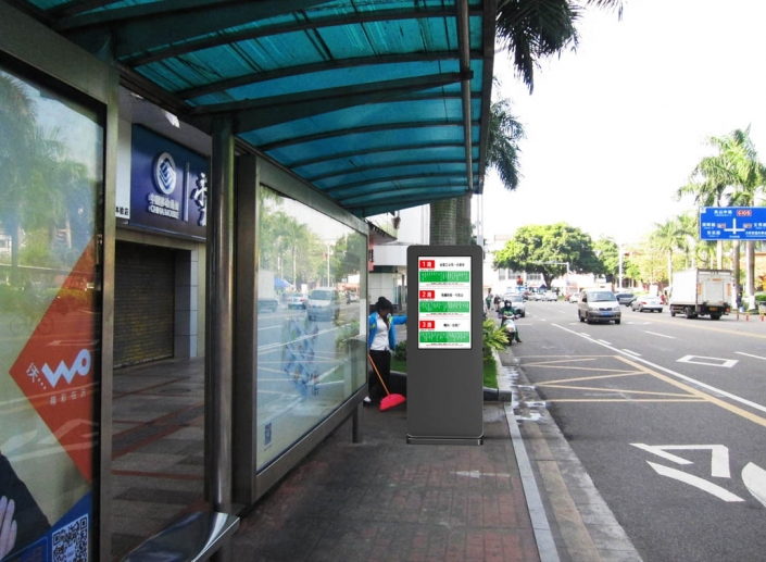 bus stop kiosk