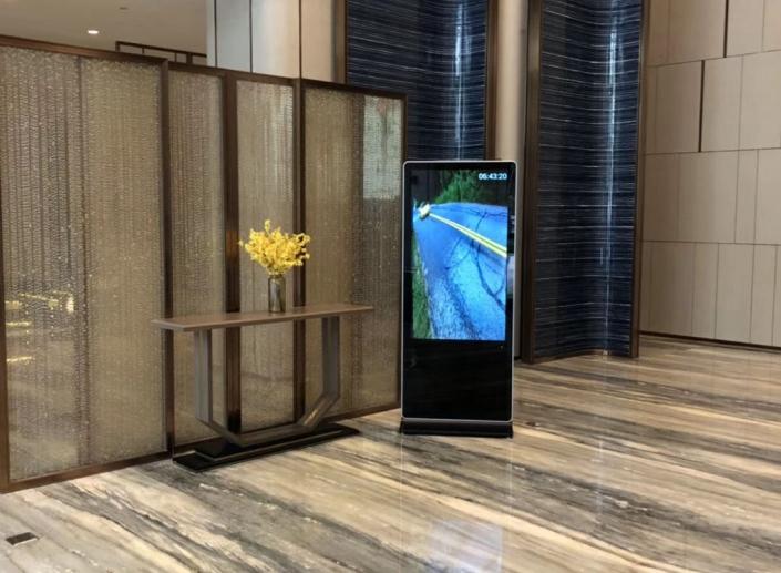 floor standing advertising screen