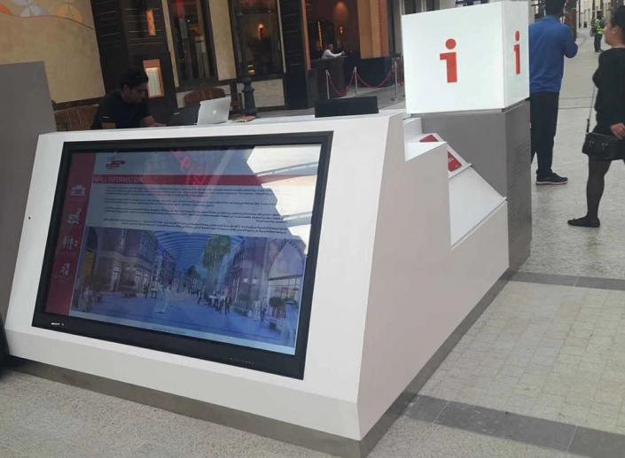 kiosk for shopping mall