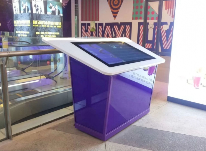 touch screen advertising table